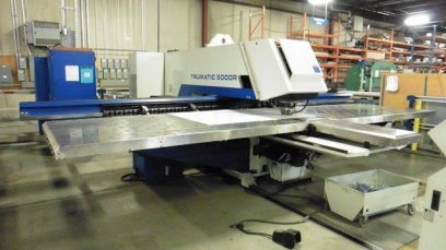 CNC Turret Punch Presses - 25 Ton, TRUMPF, TC5000R -1600, NEW LINEAR AMPLIFIER,MFG:2005 14,039 HOURS
