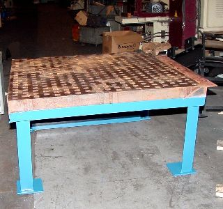 5 Length 5 Width Unknown 5x5 Welding Table On Stand For