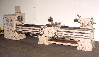 Engine Lathes - 24 Swing 120 Centers Pasquino ENGINE LATHE, Gap Bed, Inch/Metric, Rapid,