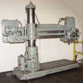 Radial Arm Drills - 5 Arm Lth 11 Col Dia Carlton 1A RADIAL DRILL, #4MT, 10 HP, Power Elevatin