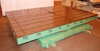 Rotary Tables - 84 Width 120 Length Giddings & Lewis Hyrdrostatic ROTARY TABLE, 50,000 lb