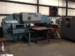CNC Turret Punch Presses - 33 Tons 50 Throat Amada Pega 357 CNC TURRET PUNCH PRESS, Fanuc 6M CNC Cont