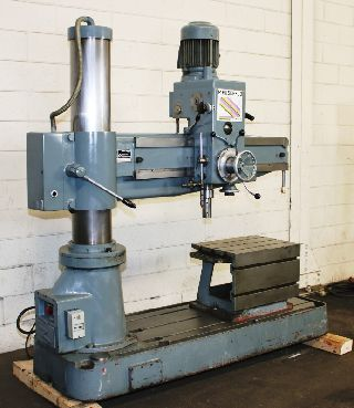 Radial Arm Drills - 4 Arm Lth 9 Col Dia Meuser M35R RADIAL DRILL, Power Elevation, Tapping,4