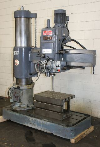 Radial Arm Drills - 4 Arm Lth 13 Col Dia Ikeda RM1150 RADIAL DRILL, Power Elevation & Clampin